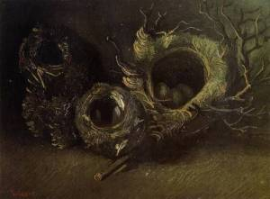 Vincent-van-Gogh-Three-Birds-Nest-Oil-Painting